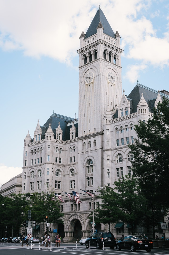 The Old Post Office building in Washington, DC.