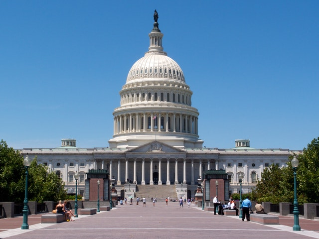 The east front of the United States Capitol, Washington, DC.