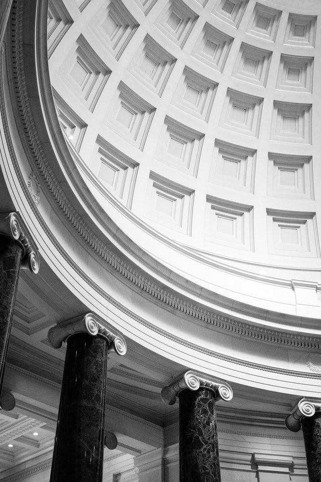 The dome of the west building of the National Gallery of Art.