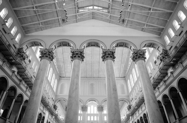 The interior of the National Building Museum.