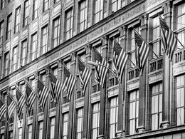Flags on Fifth Avenue.