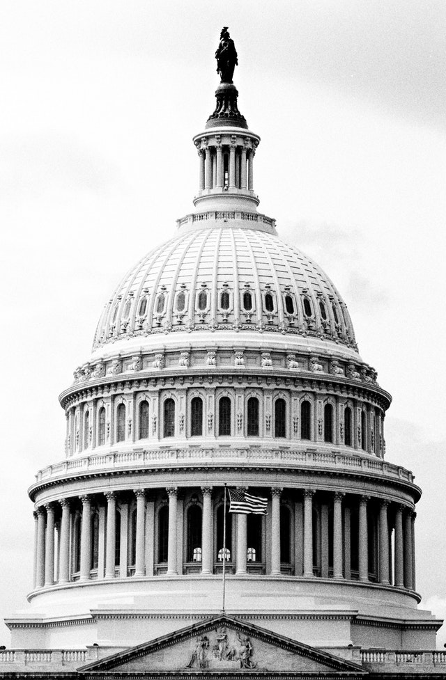 The dome of the United States Capitol.